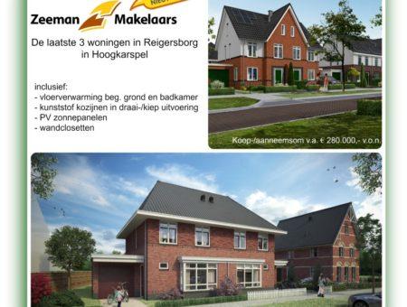 Nog enkele woningen in Reigersborg!