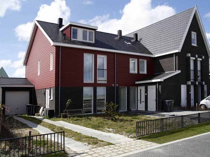 Zeeman Vastgoed ,foto`s, jaarverlsag, 2007,080406,Hoorn,Bangerd oosterpolder, 25 woningen,