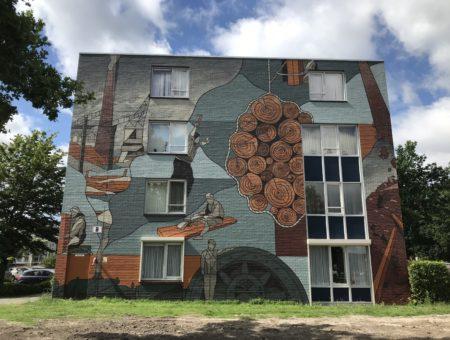 Muurschildering onthuld in Houthaven Oosterhout